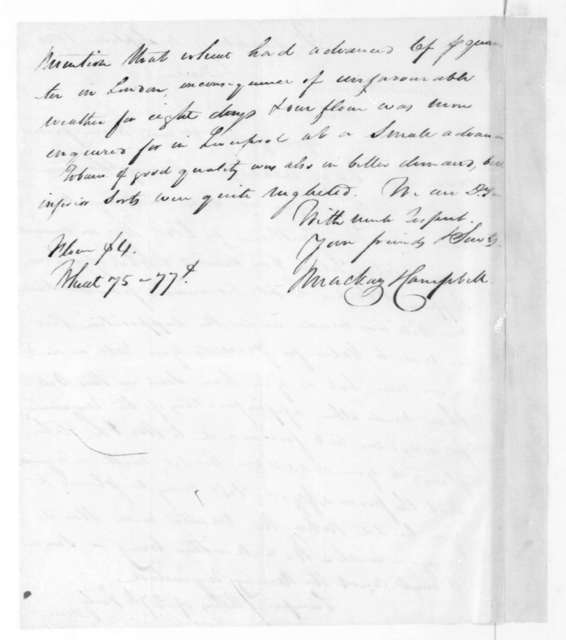 MacKay & Campbell to James Madison, September 4, 1820.