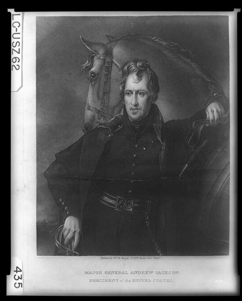 Major General Andrew Jackson, President of the United States / painted by Thomas Sully ; engraved by James B. Longacre.
