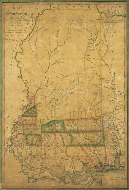 Map of Mississippi : constructed from the surveys in the General Land Office and other documents /