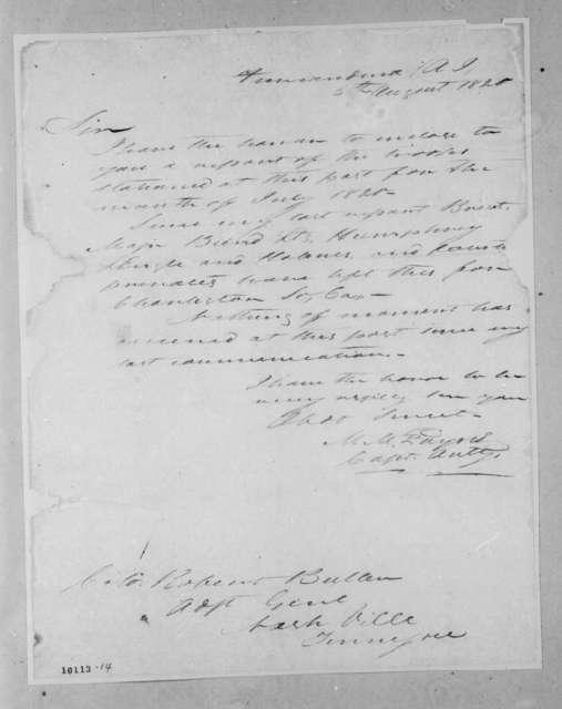 [Matthew Mountjoy] Payne to Robert Butler, August 5, 1820