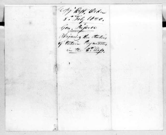 Perrin Willis, February 5, 1820