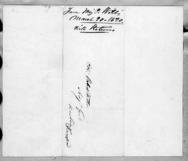Perrin Willis to Robert Butler, March 20, 1820