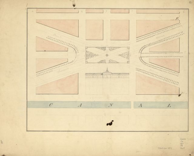 [Plan of the Center Market and surrounding squares, Washington D.C.].