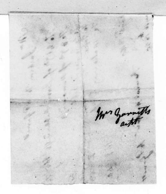 Rachel Donelson Jackson to R. P. Garrett, May 16, 1820