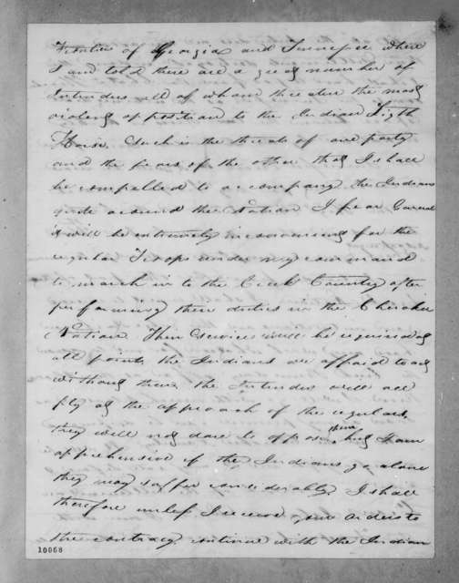 Richard Keith Call to Andrew Jackson, July 8, 1820