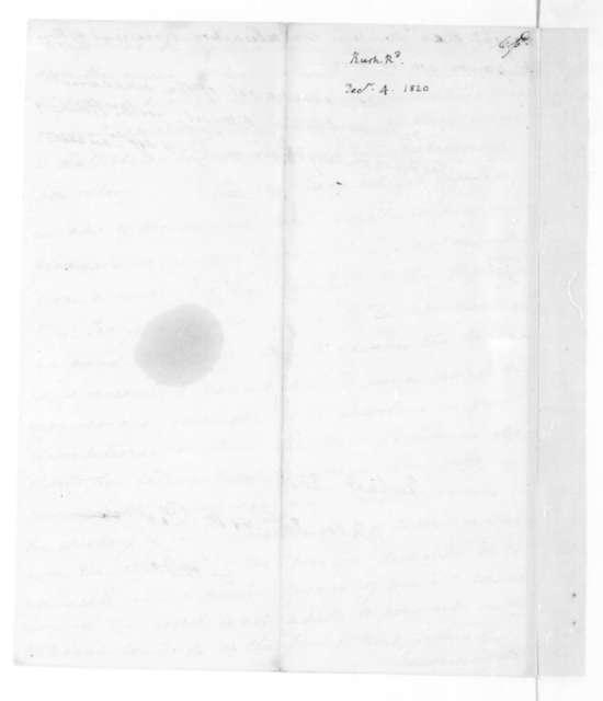 Richard Rush to James Madison, December 4, 1820.