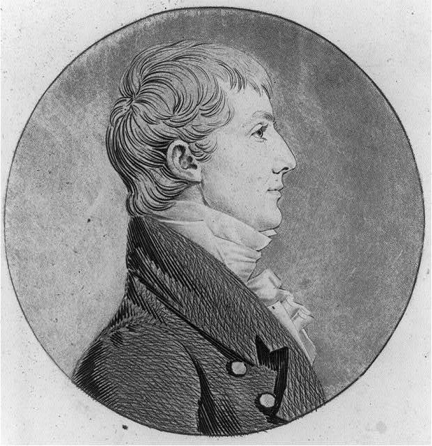 [Thomas Bolling Robertson, 1779?-1828, head and shoulders portrait, right profile]