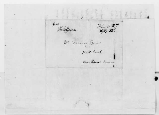 Thomas Jefferson to Francis Eppes, September 21, 1820, with List of Measured Distances