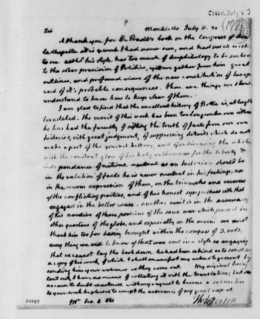 Thomas Jefferson to George Alexander Otis, July 8, 1820