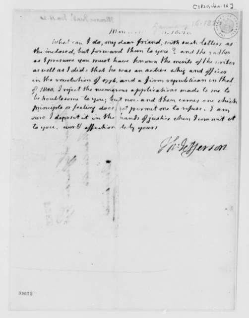 Thomas Jefferson to James Monroe, January 16, 1820