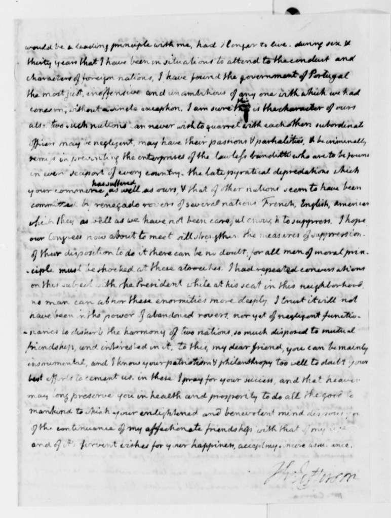 Thomas Jefferson to Jose Correa da Serra, October 24, 1820