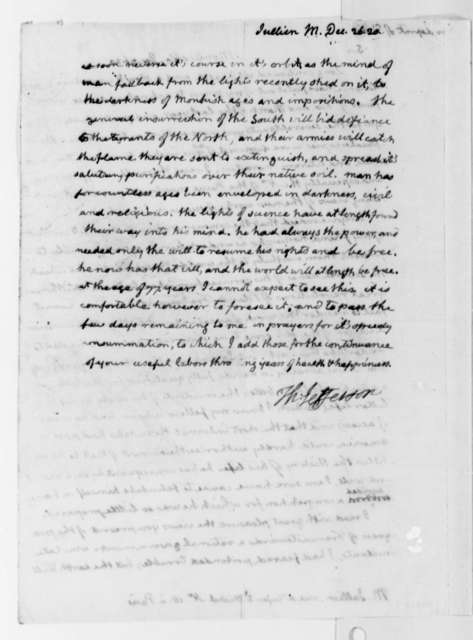 Thomas Jefferson to Marc Antoine Jullien, December 26, 1820