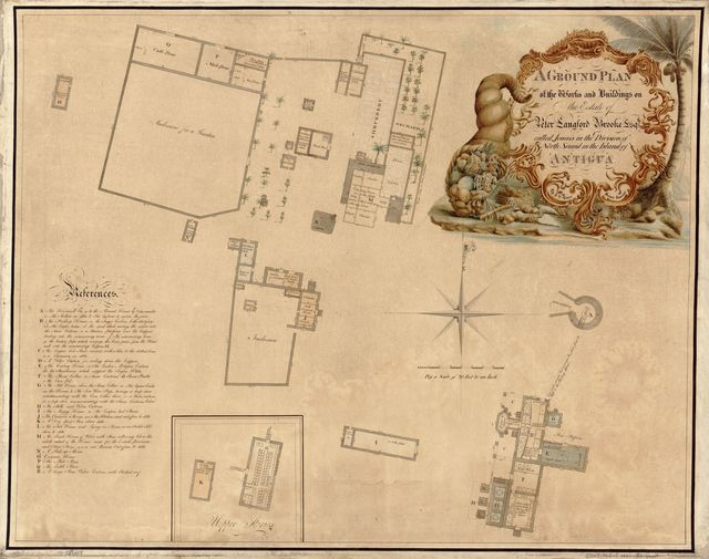 A ground plan of the works and buildings on the estate of Peter Langford Brooke, Esq., called Jonas's in the division of North Sound in the island of Antigua /