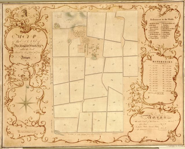 A map of the estate of Peter Langford Brooke, Esq., called the Wood situated in the Parish of St. John's, Antigua /