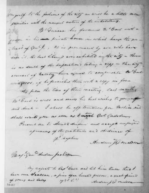 Andrew Jackson Donelson to Andrew Jackson, March 3, 1821