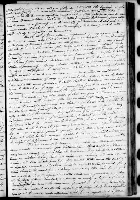 Andrew Jackson Letterbook, Vol. M - Letters and Orders, March 1821 - March 1822
