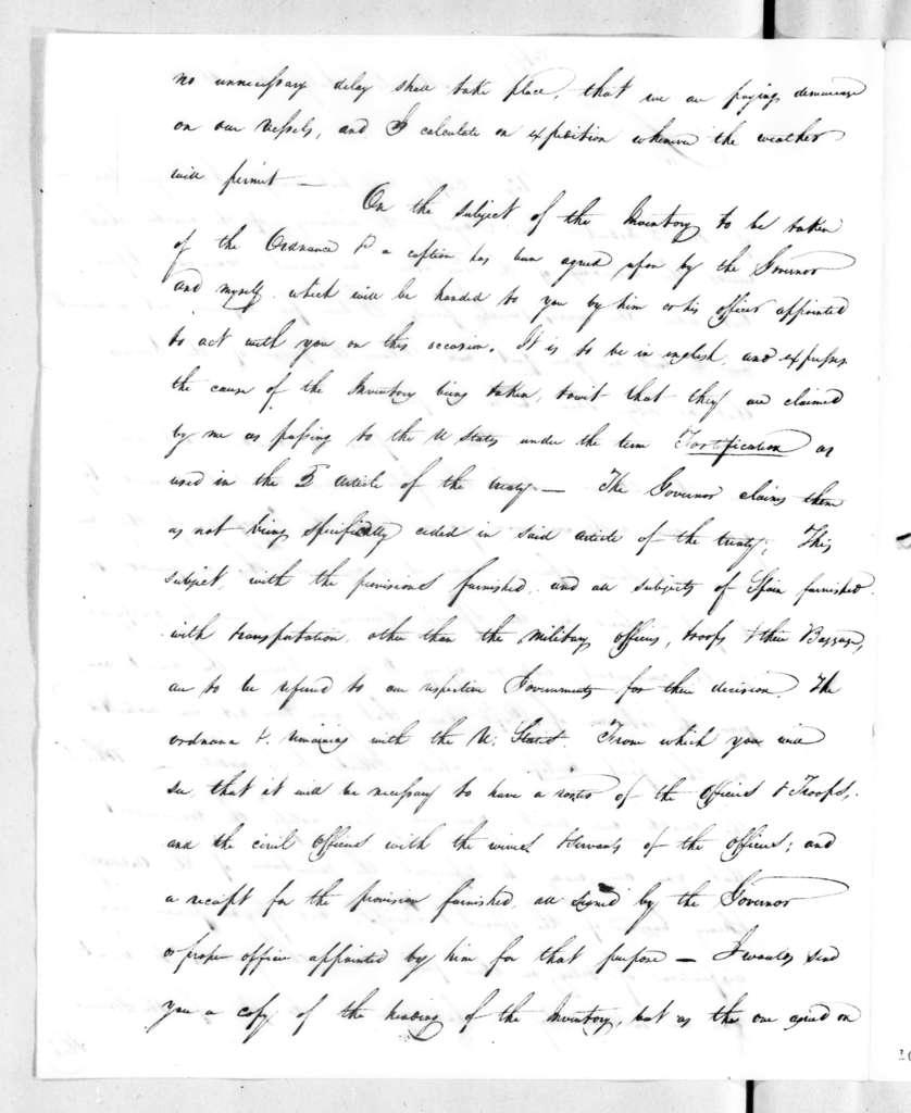 Andrew Jackson to Henry Stanton, July 6, 1821