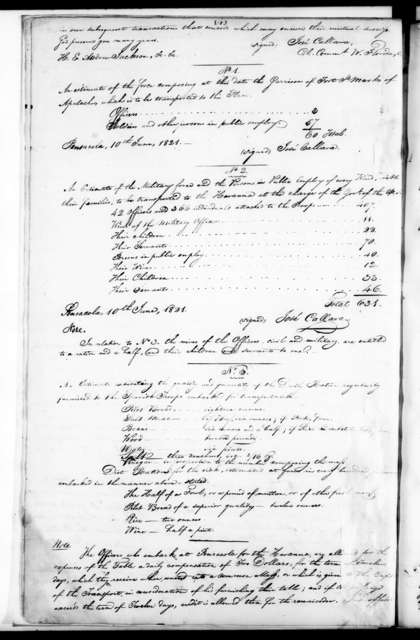 Andrew Jackson, Vol. N - Copies of documents relating to the transfer of West Florida, 1821