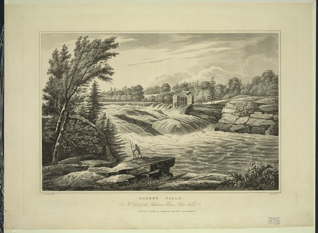 Baker's Falls / painted by W.G. Wall ; engraved by I. Hill.