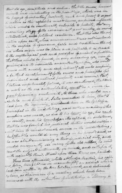 Charles Cassedy to Andrew Jackson, March 4, 1821