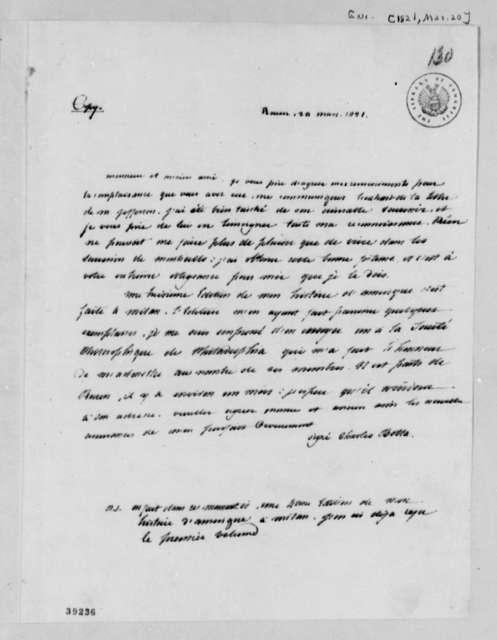 Charles G. C. Botta to David B. Warden, March 20, 1821