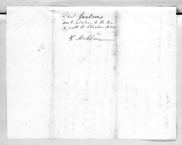 Christopher Vandeventer to Samuel Ragland Overton, May 3, 1821