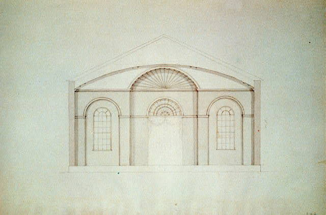 "[Church (""Unitarian Church""), D Street and 6th Street, Washington, D.C. Interior elevation, apse]"