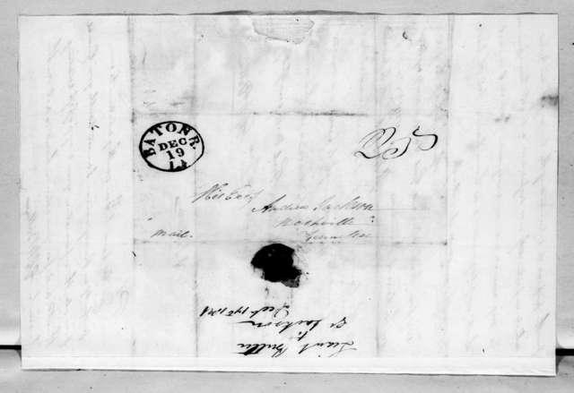 Edward George Washington Butler to Andrew Jackson, December 17, 1821