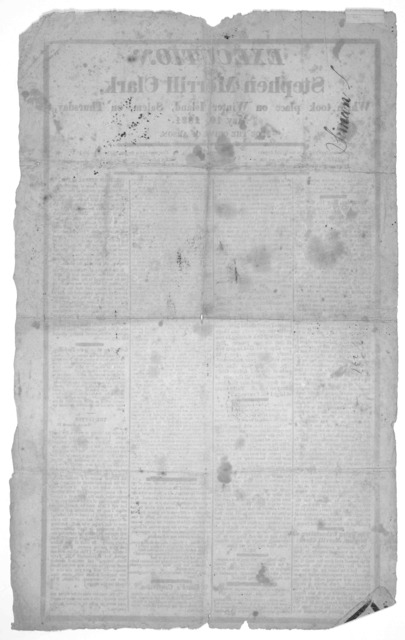 Execution of Stephen Merrill Clark, which took place on Winter Island, Salem, on Thursday, May 10, 1821 for the crime of Arson. [Salem 1821].