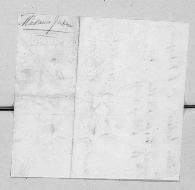 F. Pasquier to Rachel Donelson Jackson, August 28, 1821