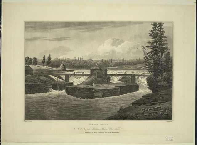 Glenns Falls / painted by W.G. Wall ; engraved by I. Hill.