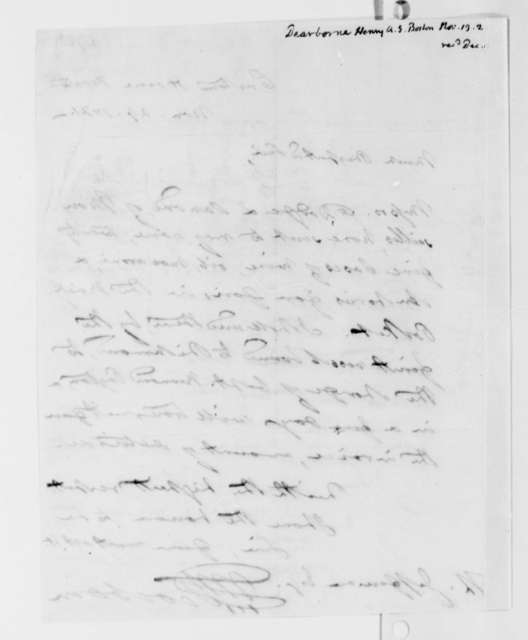 Henry A. S. Dearborn to Thomas Jefferson, November 29, 1821