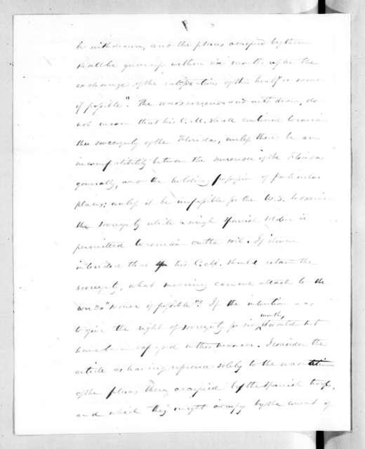 Henry Marie Brackenridge to Andrew Jackson, May 15, 1821