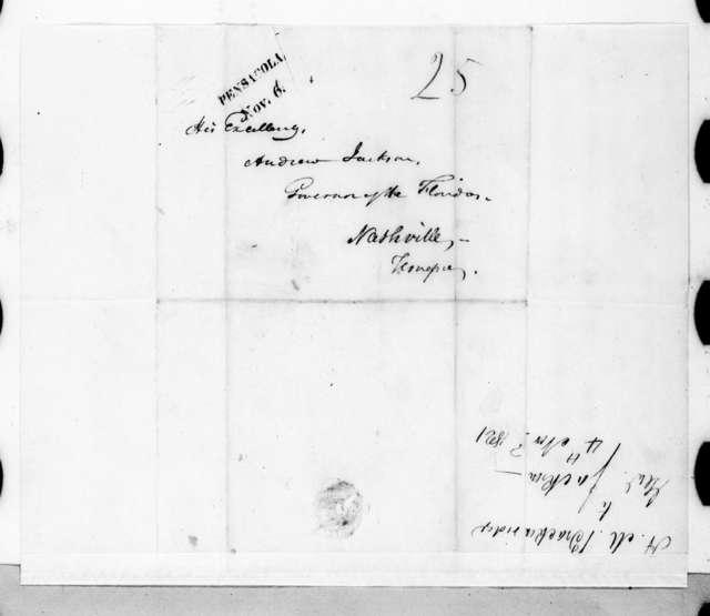 Henry Marie Brackenridge to Andrew Jackson, November 4, 1821