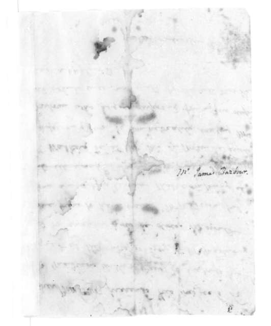 James Barbour to Dolley Payne Madison, October 13, 1821.