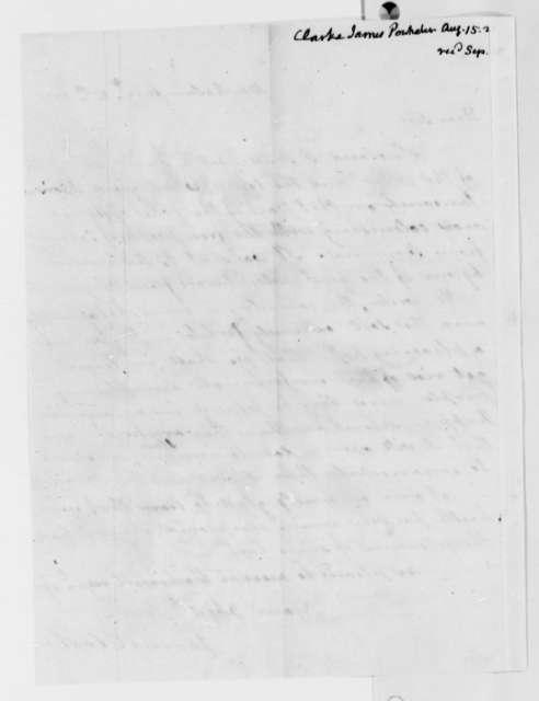 James Clarke to Thomas Jefferson, August 15, 1821