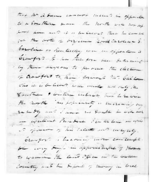 James Craine Bronaugh to Andrew Jackson, December 30, 1821