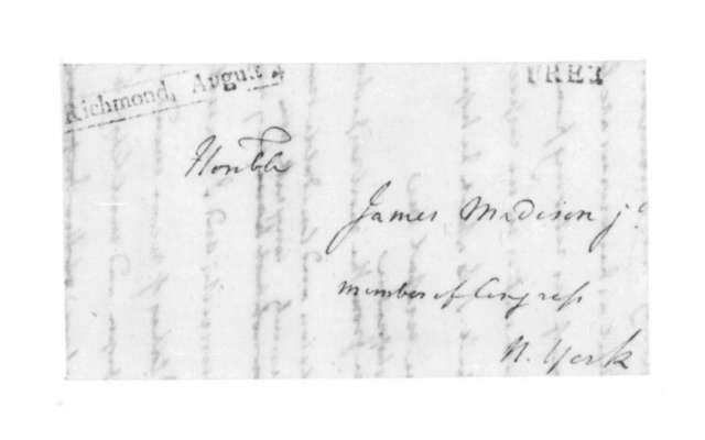 James Madison to Henry Middleton, December 24, 1821.