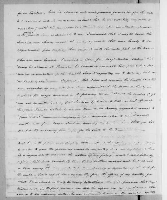 James Ramage to Andrew Jackson, August 22, 1821