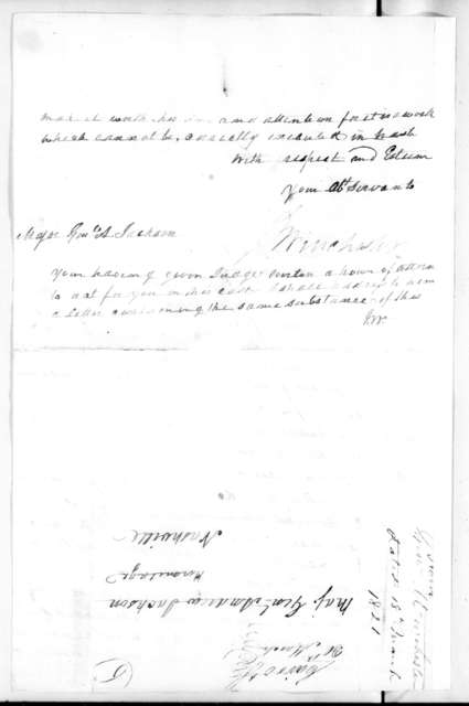 James Winchester to Andrew Jackson, March 18, 1821