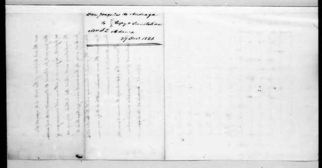 Joaquin de Anduaga to John Quincy Adams, December 27, 1821