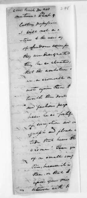 Joel Parrish to Andrew Jackson