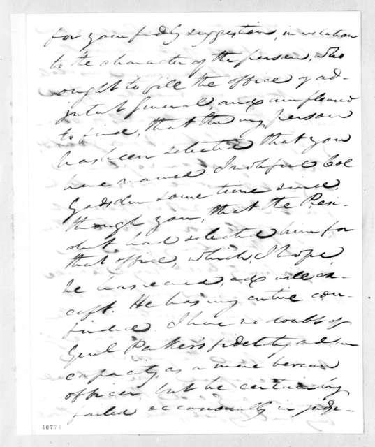 John Caldwell Calhoun to Andrew Jackson, July 4, 1821