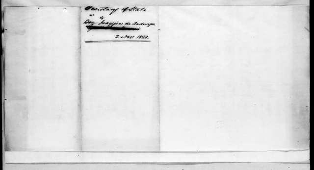 John Quincy Adams to Joaquin de Anduaga, November 2, 1821