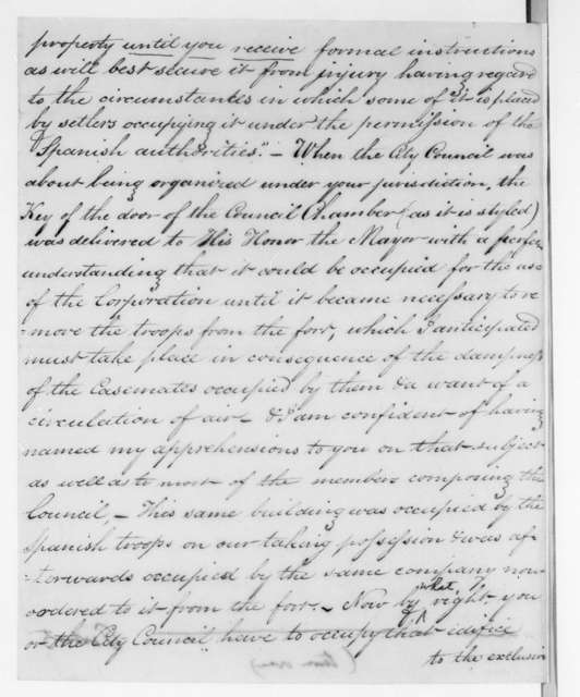 John R. Bell to William Grafton Dulany Worthington, September 27, 1821
