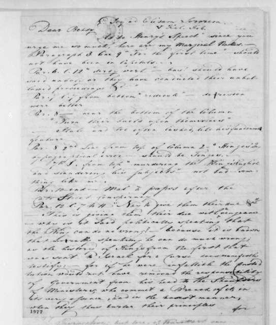 "Joy to Unknown, February, 1821. Addressed ""Dear Betsy""."