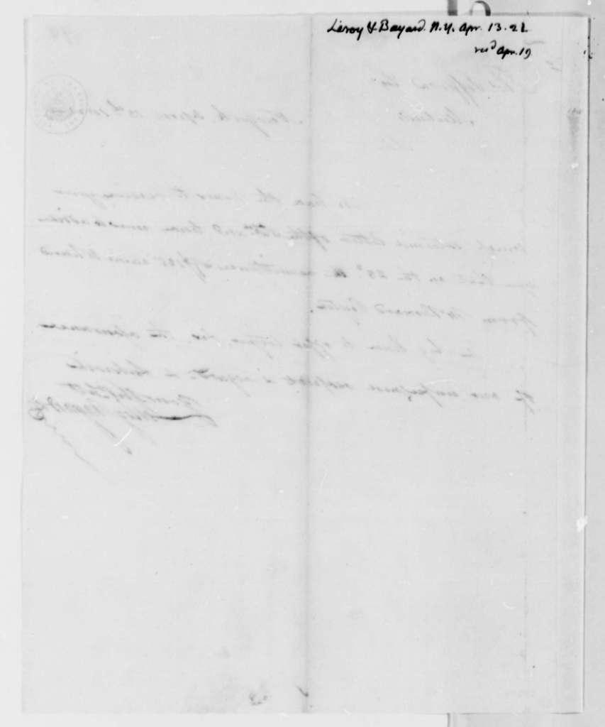 Leroy-Bayard & Company to Thomas Jefferson, April 13, 1821