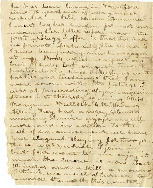 Letter from Agness Wilson to George Wilson