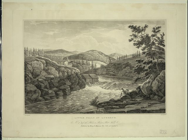 Little falls at Luzerne / painted by W.G. Wall ; engraved by I. Hill.