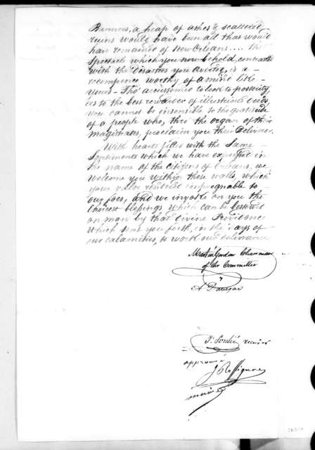 Martin Gordon et al. to Andrew Jackson, April 23, 1821